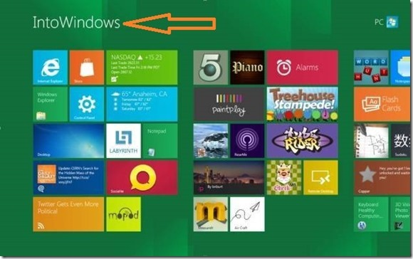 Edit Windows 8 Start Text