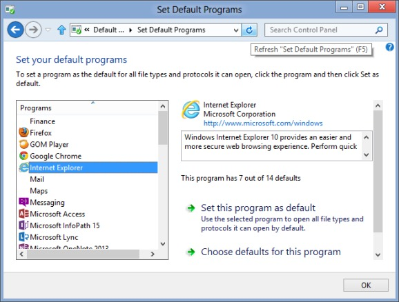 Internet Explorer Metro Tile MIssing From Start Screen3