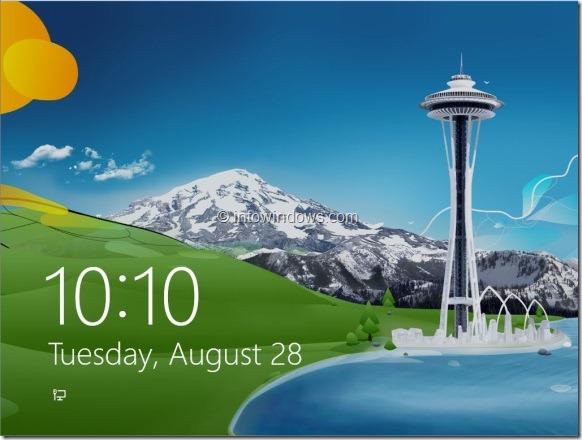 Logon Screen Windows 8