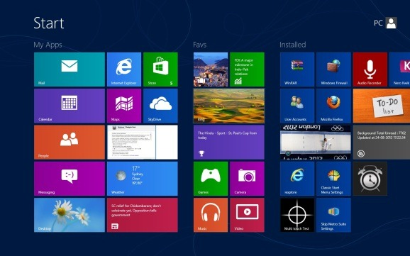 Name groups on Windows 8 start screen