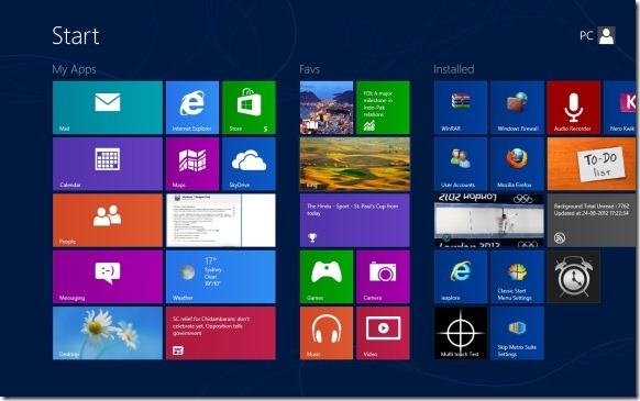 Name Groups On Start Screen In Windows 8