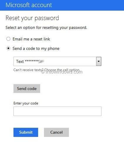 Recover Outlook.com Password Step5