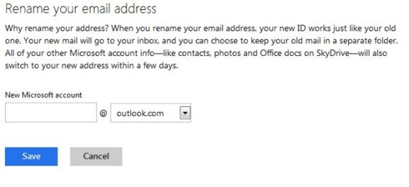 Rename Hotmail & Live Email Address To Outlook.com Step4