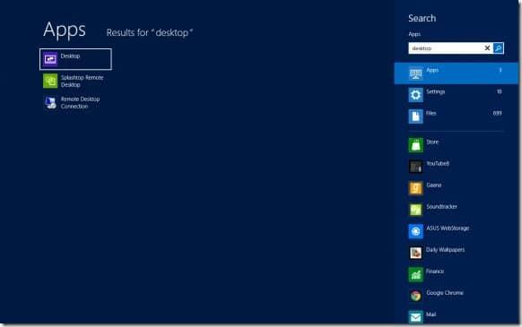 Restore Desktop Tile