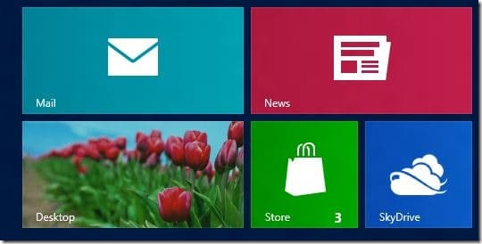 Restore Missing Desktop Tile On Start Screen In Windows 8
