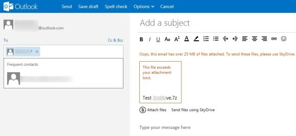 Send Attachments More Than 25 MB In Outlook