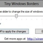 Change Window Border Size In Windows 8 With Tiny Window Borders