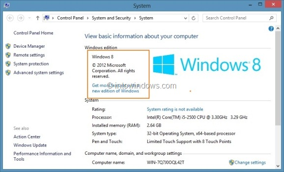 Upgrade Windows 8 To Windows 8 Pro Step1