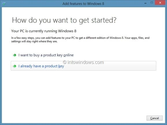 Upgrade Windows 8 To Windows 8 Pro Step2