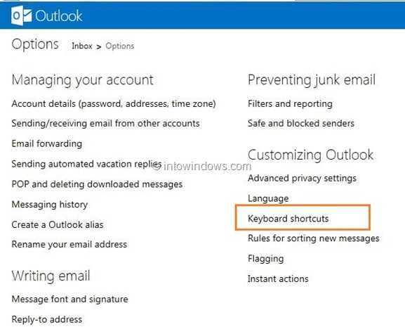 Use Gmail Keyboard Shortcuts In Outlook