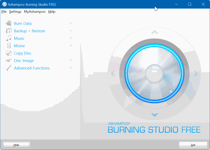 ashampoo burning studio free for Windows 10