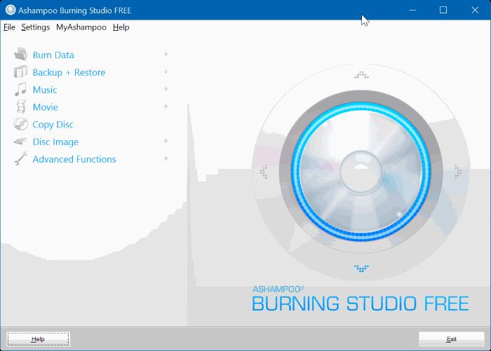 ashampoo burning studio free for Windows 10