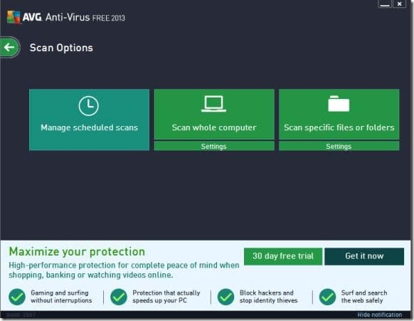 AVG Antivirus Free 2013 Windows 8