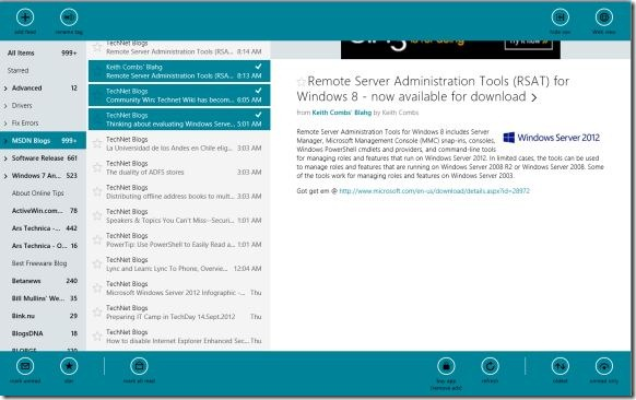 Best Google Reader app for Windows 8 Picture2