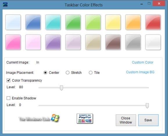 How To Set Custom Image As Taskbar Background In Windows 8 pic3