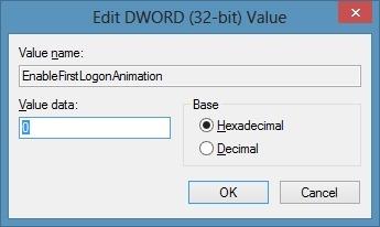 Disable Windows 8 Animation Step7