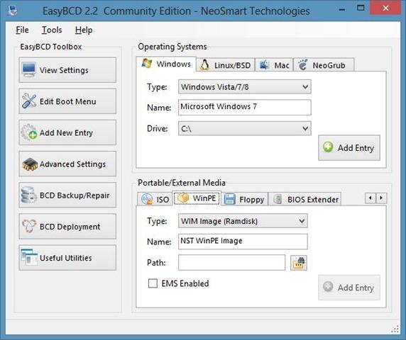 EasyBCD for Windows 8