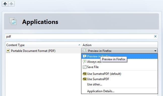 Open PDF File In Firefox