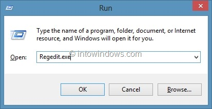 Set Different Colors for Taskbar and Window Border in Windows 8 Step1