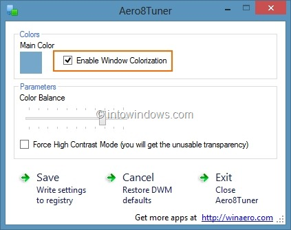 Set Different Colors for Taskbar and Window Border in Windows 8 Step6