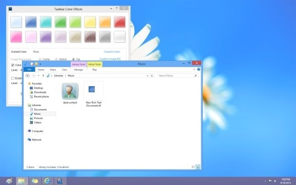 Set Different Colors for Taskbar and Window Border