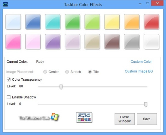 Set Different Colors for Taskbar and Window Borders