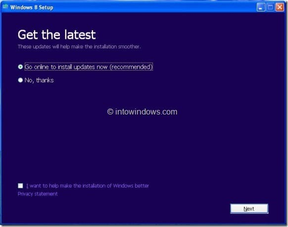 Upgrade XP To Windows 8 Step3