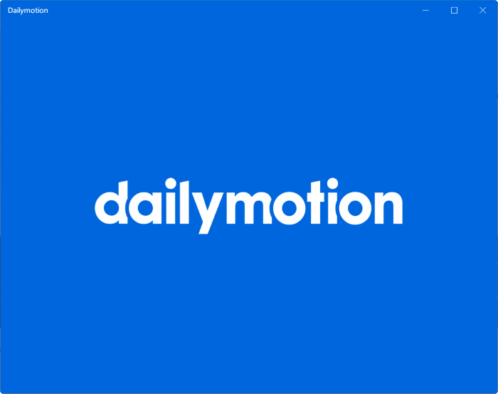 dailymotion app for Windows 10