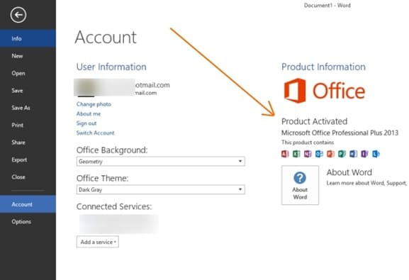 Activate Office 2013 Step5