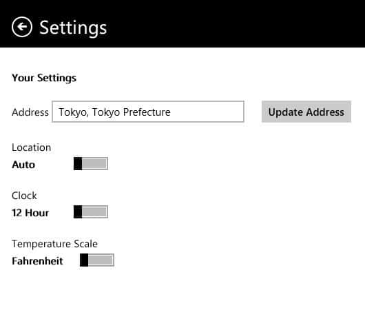 Clock and weather on Windows 8Start screen