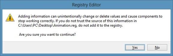 Enable Hidden Start Screen Animation In Windows 8 Step1