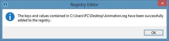 Enable Hidden Start Screen Animation In Windows 8 Step2