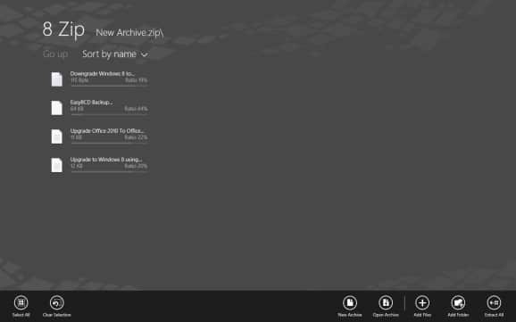 8 Zip: File Archive App For Windows RT