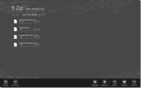 File Archive app for Windows RT