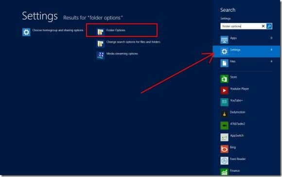 Folder Options in Windows 8 Picture4
