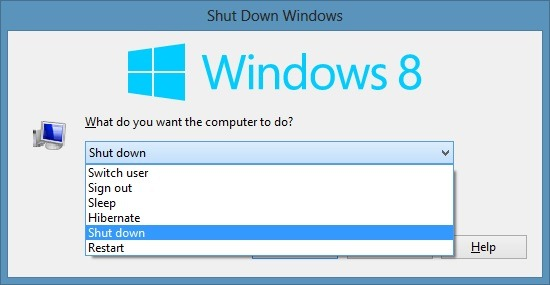 How To Shut down Windows 8