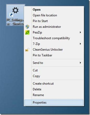 Keyboard shortcut to open PC Settings Step2