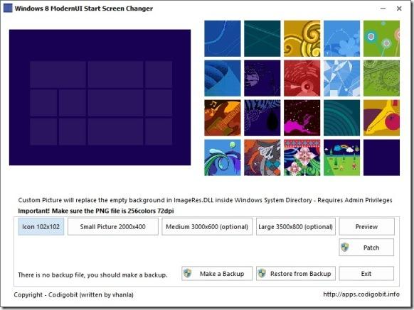 ModernUI Start Screen Changer