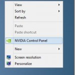 Fix: NVIDIA Control Panel Missing From Desktop Context Menu