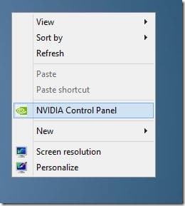how to access nvidia control panel win 10