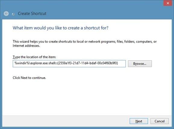 Pin Run Command To Start Screen In Windows 8 Step2
