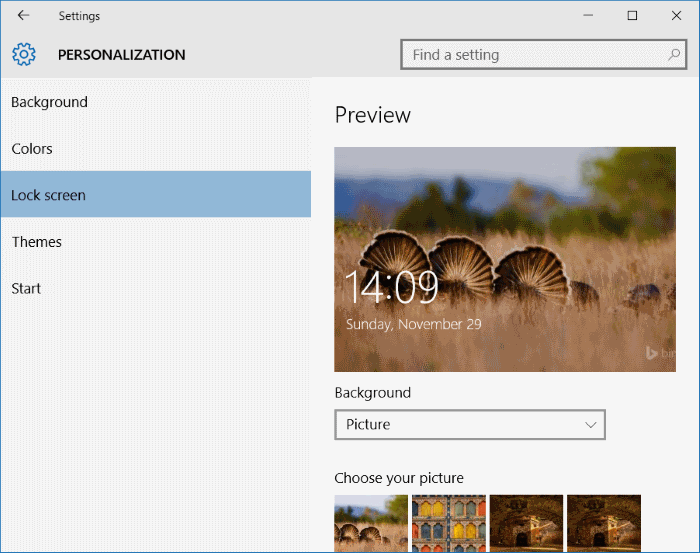 Pin settings to start menu and taskbar in windows 10