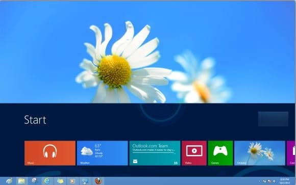 reduce start screen size Windows 8