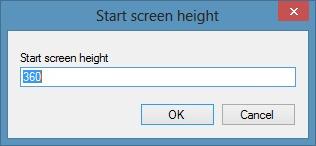 Reduce Start Screen Size In Windows