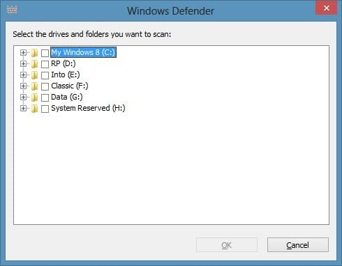 Scan Files Using Windows Defender In Windows 8 Picture1