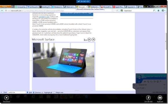 TeamViewer Touch For Windows 8 Picture2