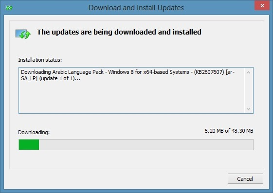 Windows 8 Language Packs Step1