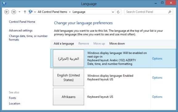 windows 7 language interface pack (lip)