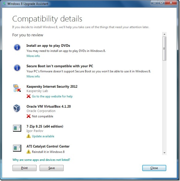 Windows 8 Upgrade Assistant Picture1