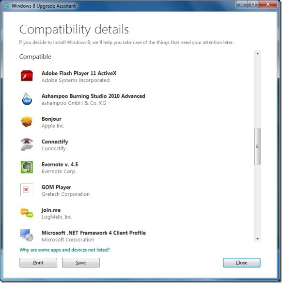 Windows 8 Upgrade Assistant Picture2